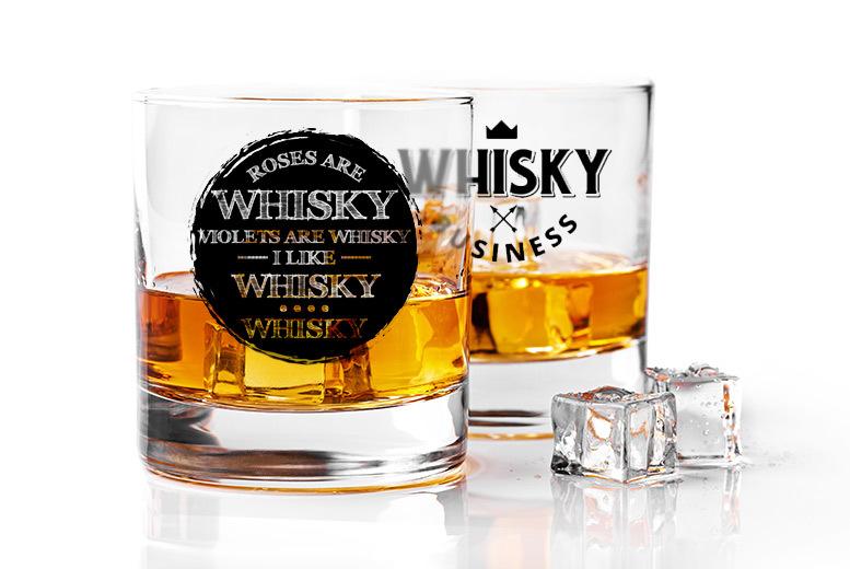 Novelty Whisky Glasses – 2 Designs for £5.49