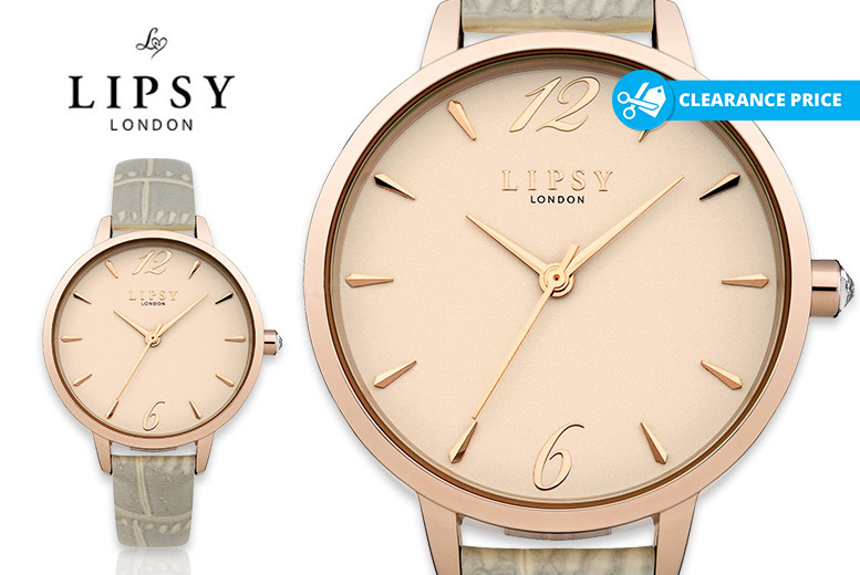Ladies' Lipsy LP485 Rose Gold-Plated Watch for £19
