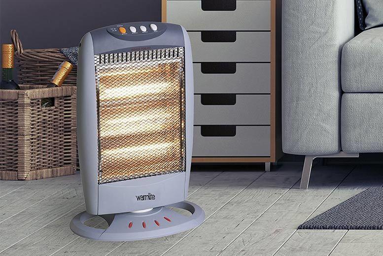 Warmlite Halogen Heater 1200W for £14.99