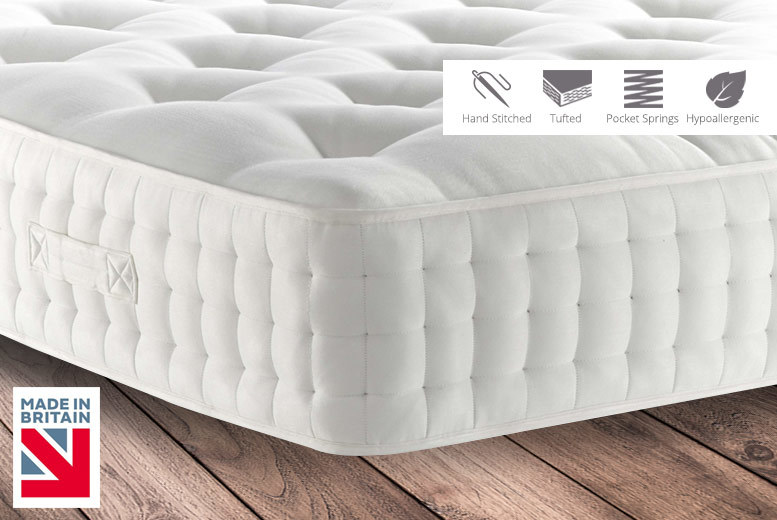 2000-Pocket Sprung Hand-Stitched Orthopaedic Mattress from £119