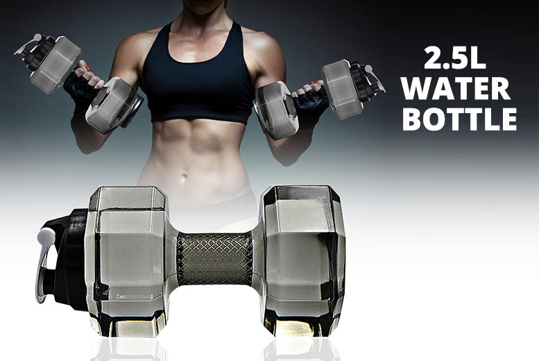 2.5L Large Capacity Water Bottle Dumbbell – Get 1 or 2 in 5 Colours! for £6.99