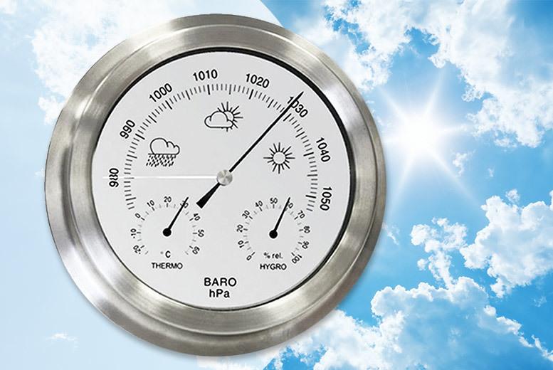 Indoor & Outdoor Stainless Steel Barometer for £18.99