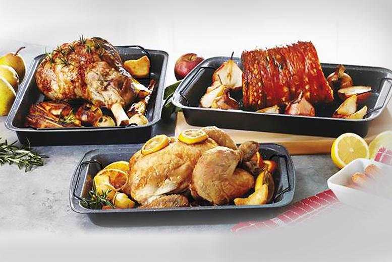 3 durastone roasting trays