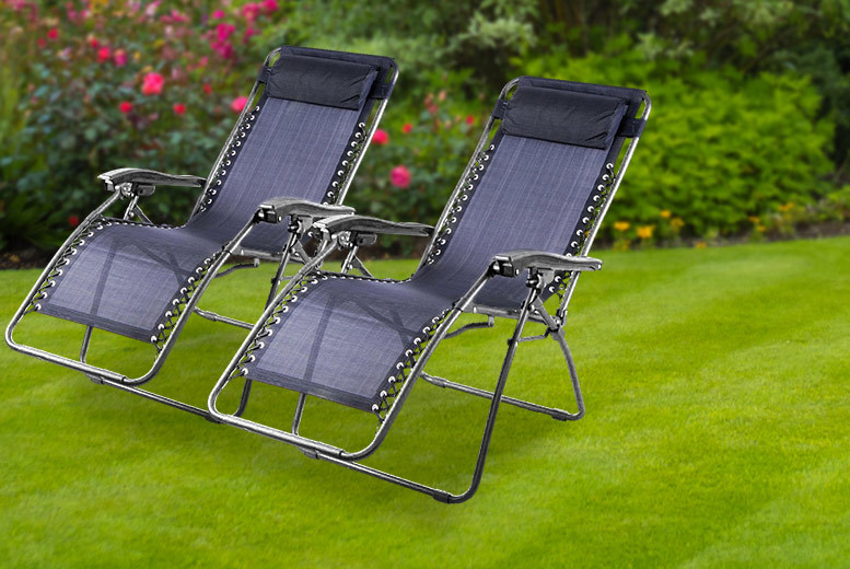 £49 instead of £152.99 (from UK Home and Garden Store) for two textilene zero gravity reclining chairs - save 68%