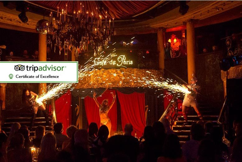 £49 for a Saturday cabaret experience including two-course meal and club entry at Café De Paris, Piccadilly - save up to 35%