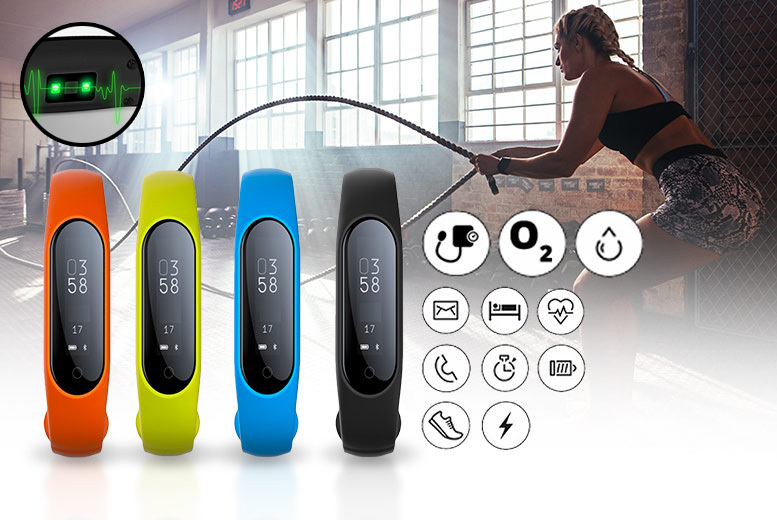 YOLO 17-in-1 Fitness Tracker with Blood Pressure, Oxygen & Heart Rate Monitor – 4 Colours! for £19