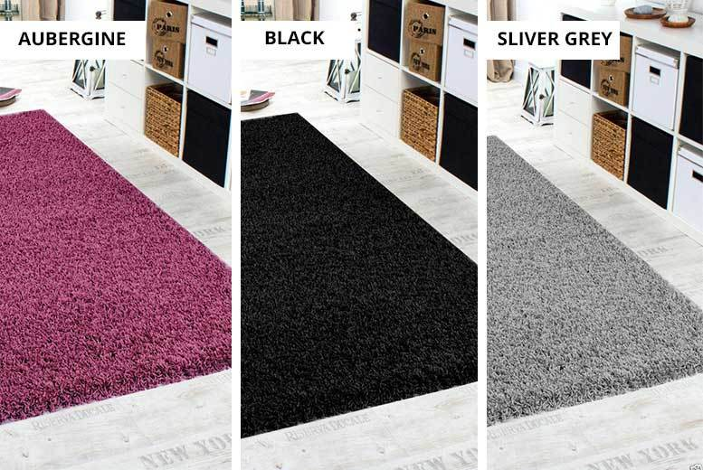 Shaggy Rugs – 5 Sizes & 11 Colours! from £9.99