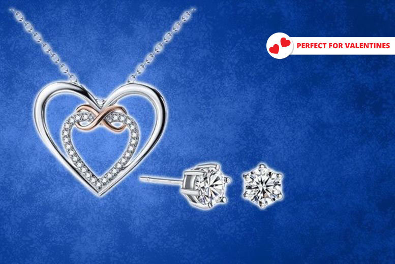 Infinity Necklace Made With Crystals From Swarovski® – Optional Earrings! from £9