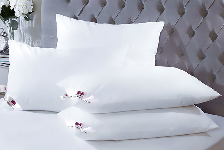 4 Luxury Dickens Duck & Down Feather Pillows