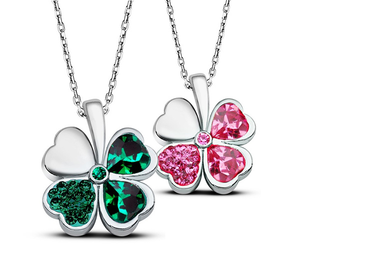 'Lucky Clover' Pendant Necklace for £9
