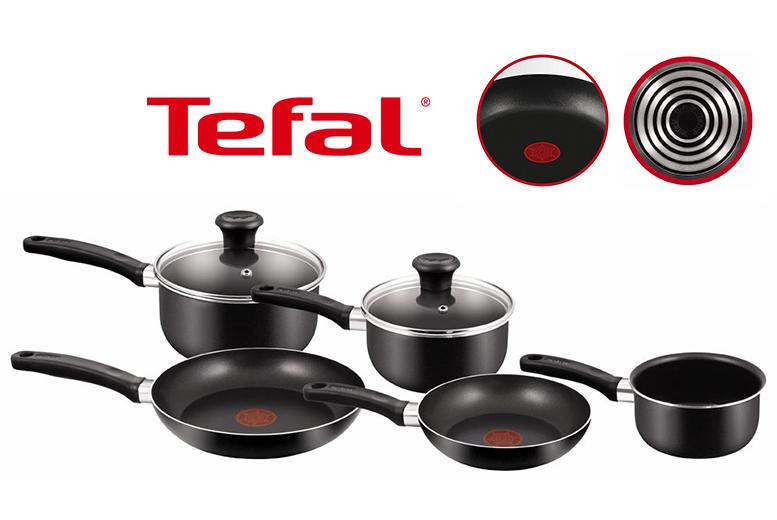 5pc Tefal Non-Stick Saucepan Set for £32