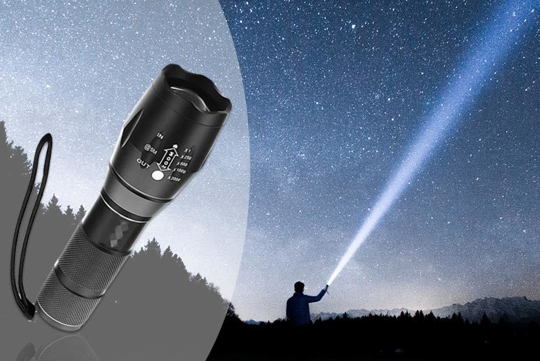 Outdoor Military-Style Flashlight for £5.99