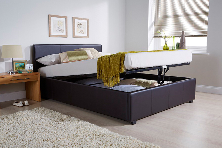 End-Lift Ottoman Storage Bed