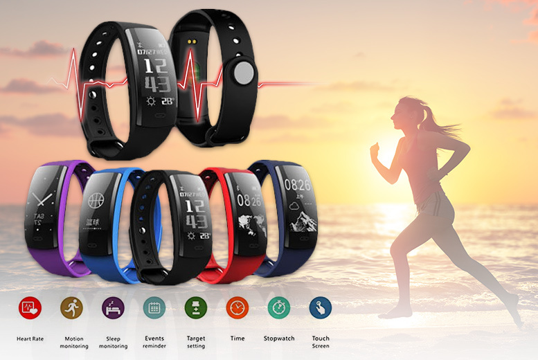 Next-Gen Waterproof Fitness Tracker with HR Monitor & HD Display for £19