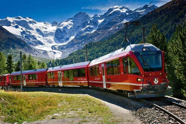 Travel By Train Italy Stunning italy switzerland bernina express train hotels flights bernina 1 sisterspd