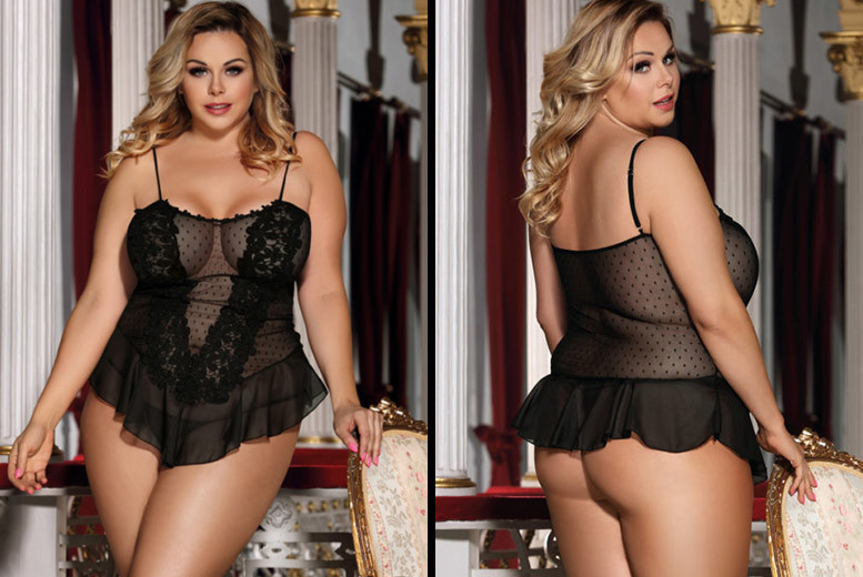 Plus Size Lace Baby Doll – Sizes 16-22! for £9.99