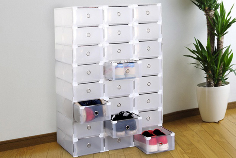 Transparent Shoe Storage Box- 2 Sizes! from £9.99