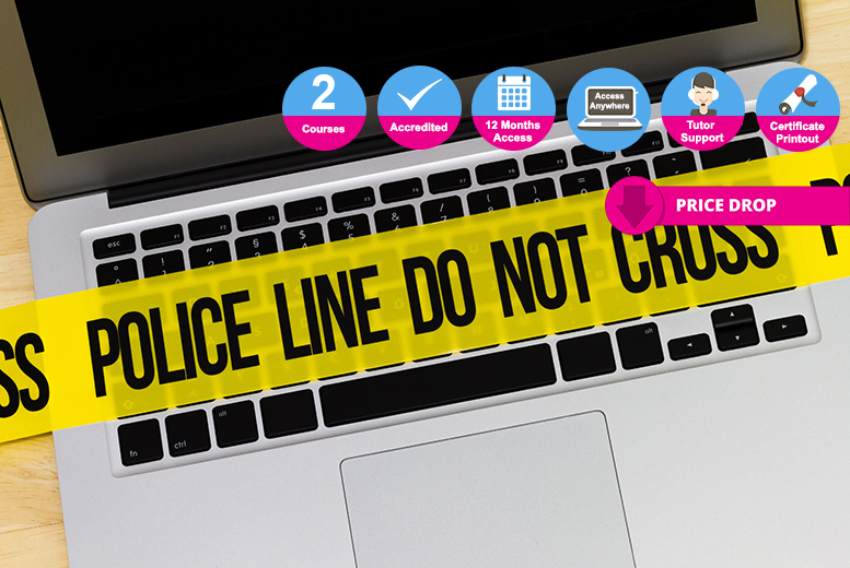 Accredited Level 3 & 4 Online Criminology Course Bundle for £25