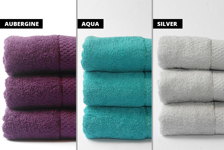 3 Egyptian Cotton Bath Sheets – 11 Colours! for £11.99
