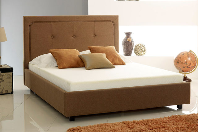 fabric buttoned ottoman storage bed