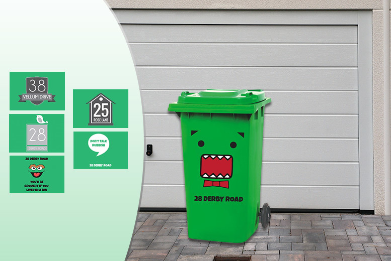 wheelie bin stickers