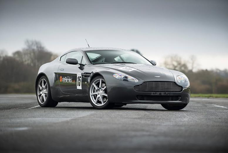 £69 instead of £139 for a 14-lap Aston Martin V8 Vantage supercar experience with Drift Limits - save 50%