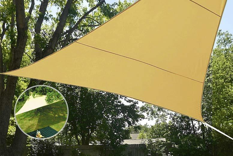 £12 instead of £49.99 (from Groundlevel.co.uk) for a large triangle sun shade sail - keep cool and save 76%