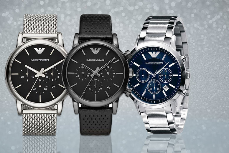 From £139 for a men's Emporio Armani watch - choose from three designs and save up to 44% + DELIVERY IS INCLUDED!
