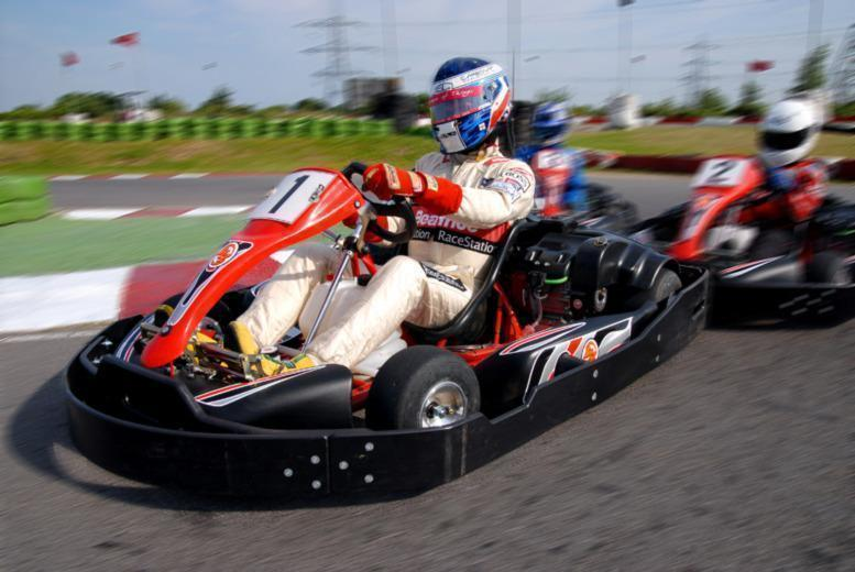 £12.50 instead of £25 for a go-karting experience at Lakeside or Brentwood Karting with LetsGoActive - save 50%