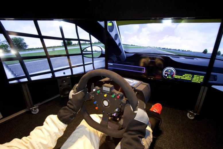 £12 for a 1-hour F1 driving simulator experience for one person, £24 for two people or or £60 for up to five people at The Race Centre, Halifax - save up to 50%