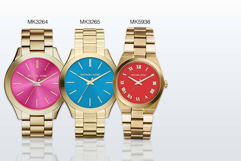 From £89 for a ladies' Michael Kors watch in a choice of five designs - save up to 50% + DELIVERY IS INCLUDED!