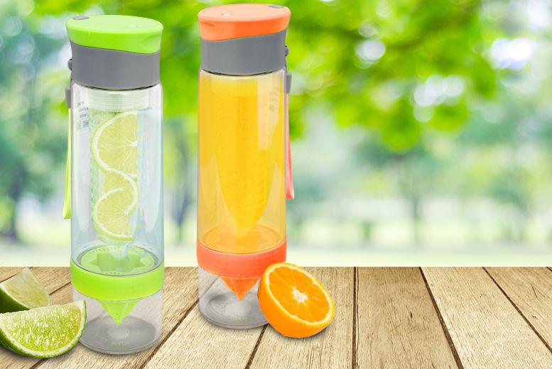 Tritan Fruit Infusing Bottle – 7 Colours! for £3.99