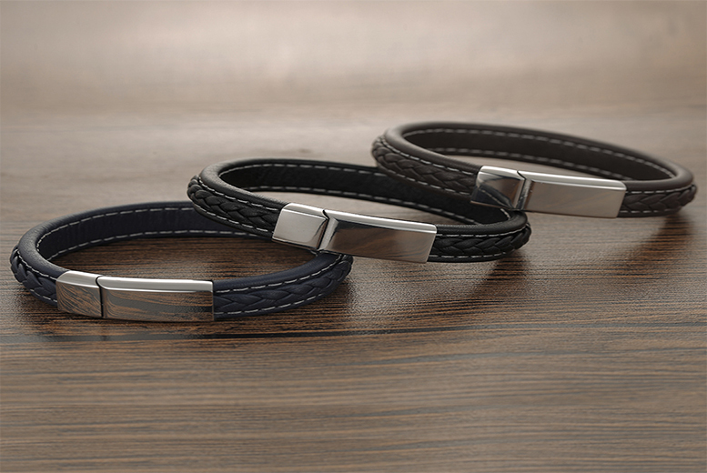 Men's Honour Leather Bracelet – 3 Colours! for £12