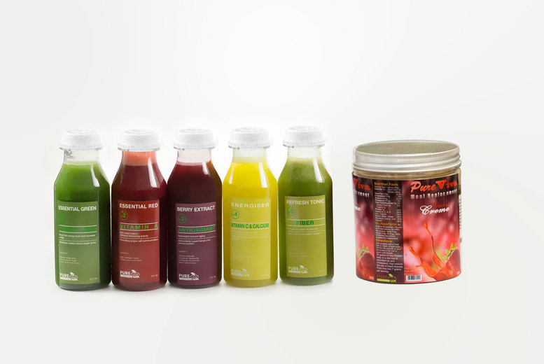 £59 for a three-day juice cleanse, or £99 for five days, or £139 for seven days from Pure Viva Cleanse UK - detoxify and save up to 40%