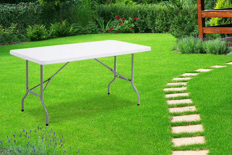 £29 instead of £95 for a six-foot long trestle garden table - save a summery 69%