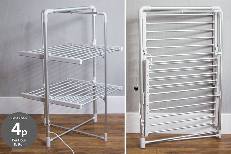 2-Tier Heated Clothes Airer for £49