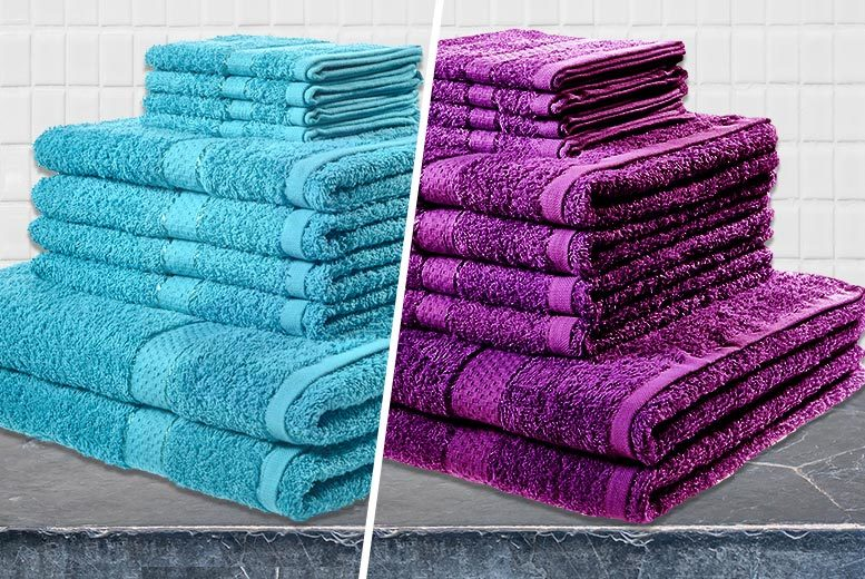 Image of From £11 instead of £79.99 (from Groundlevel) for a 10-piece towel bundle - choose from six colours and save up to 86%