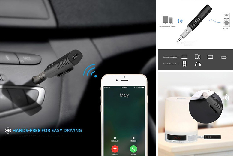 Universal 3.5mm Jack Wireless Bluetooth Car Kit for £4.99