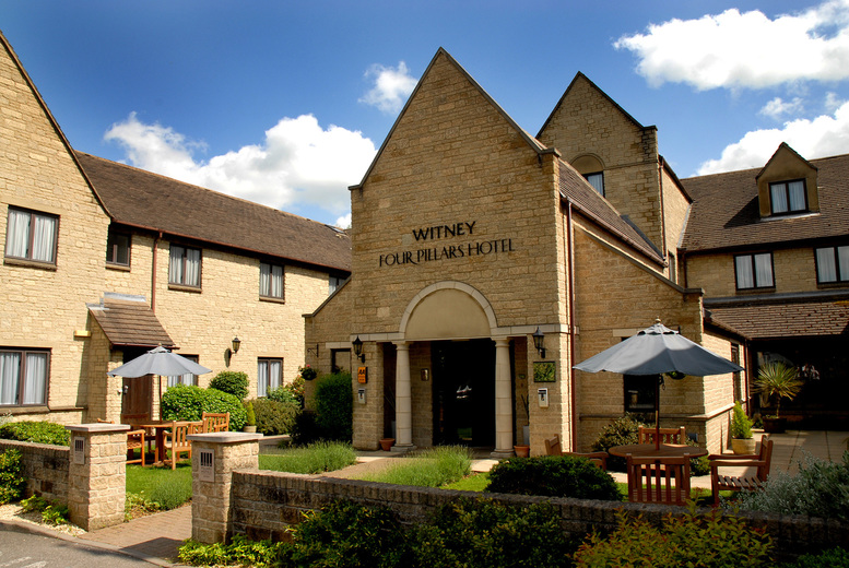 From £99 (at Oxford Witney Hotel) for a 4* overnight break for two people, including a three-course dinner and bottle of wine, spa access and breakfast - save up to 40%