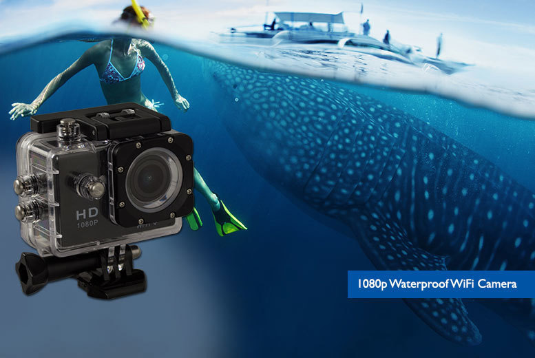 £29.99 instead of £97.99 (from Toy Meets World) for a 1080p 'waterproof' HD action camera - snap and save up to 69%