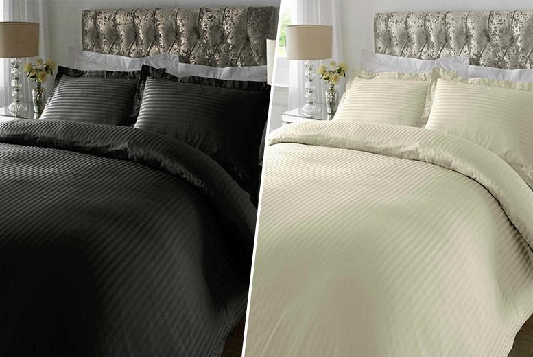 Egyptian Cotton Satin Duvet Set - 3 Sizes and 4 Colours!