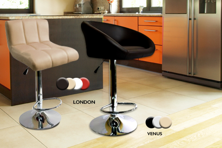 2 gas lift breakfast bar stools