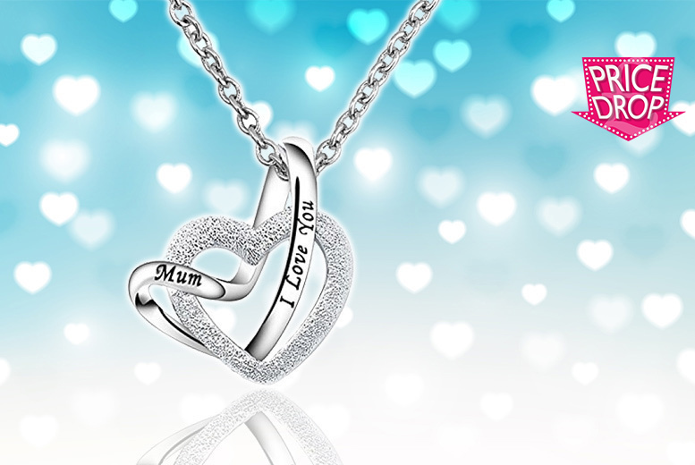 I Love You Mum' Heart Pendant Necklace for £7.99