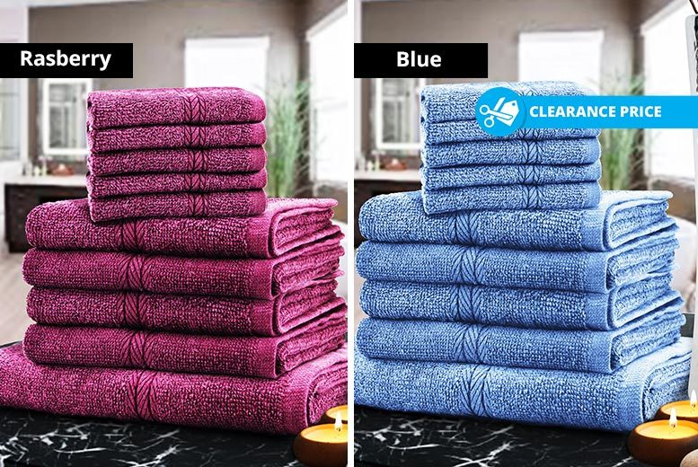 Egyptian Cotton Towels- 8 Colours! from £9.99