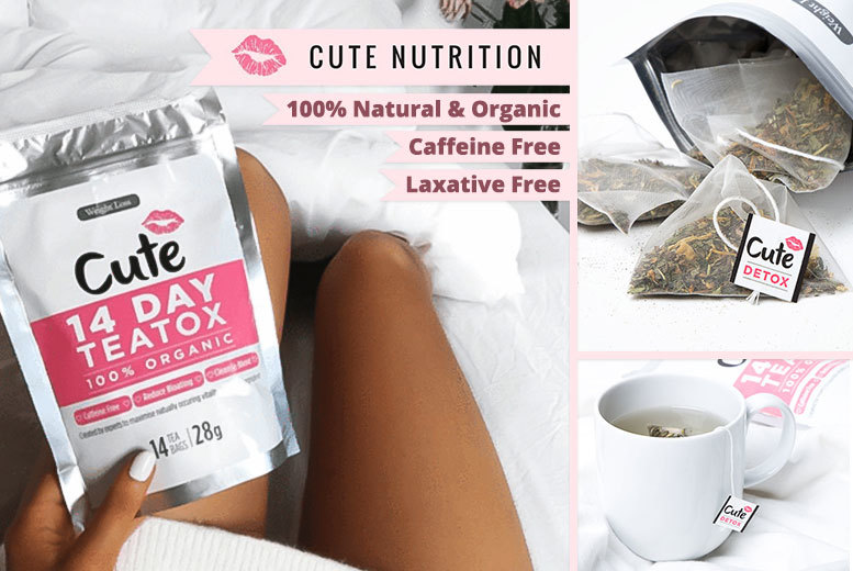 Cute Nutrition Mint Teatox – 14, 28 or 56-Day* Supply! from £7.00