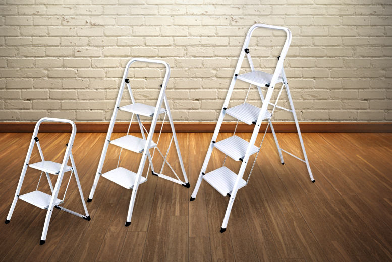 Foldable Non-Slip Step Ladders from £15