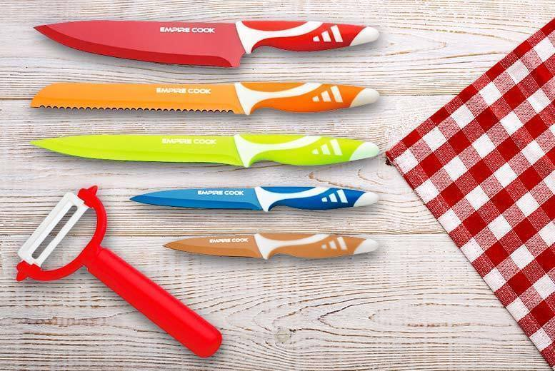 6pc Kitchen Blister Knife Set for £7.99