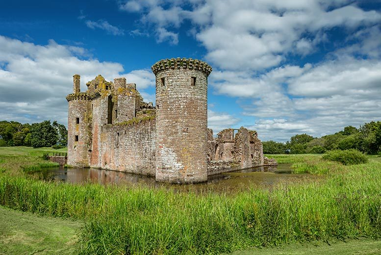 £99 for an overnight castle stay for two people, £179 for two nights at Comlongon Castle, Dumfries