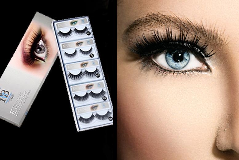 10 pairs assorted false lashes