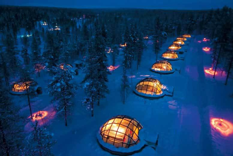 From £549pp (from Deluxe Breaks) for a 2nt Finland break with a glass igloo stay and flights, from £729pp for three nights, or pay just £300pp deposit and save up to 25%